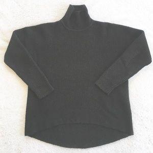 Madewell Sweaters - Madewell Black Waffle Knit Turtleneck Sweater